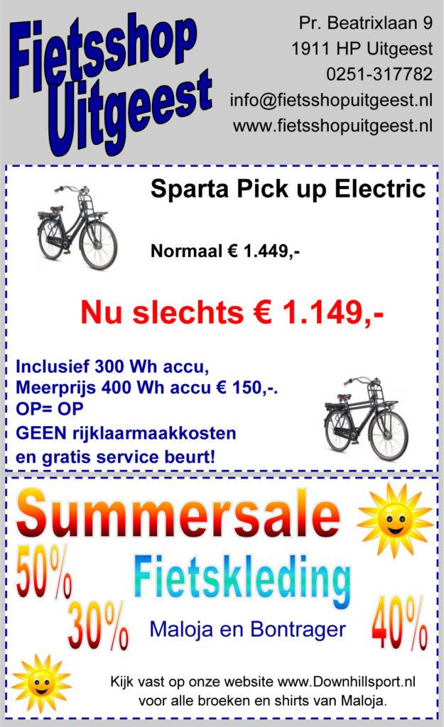 aanbieding fietsshop uitgeest juli 2016